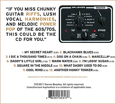 Proudly Out of Step CD Back Cover - Steven Beasley